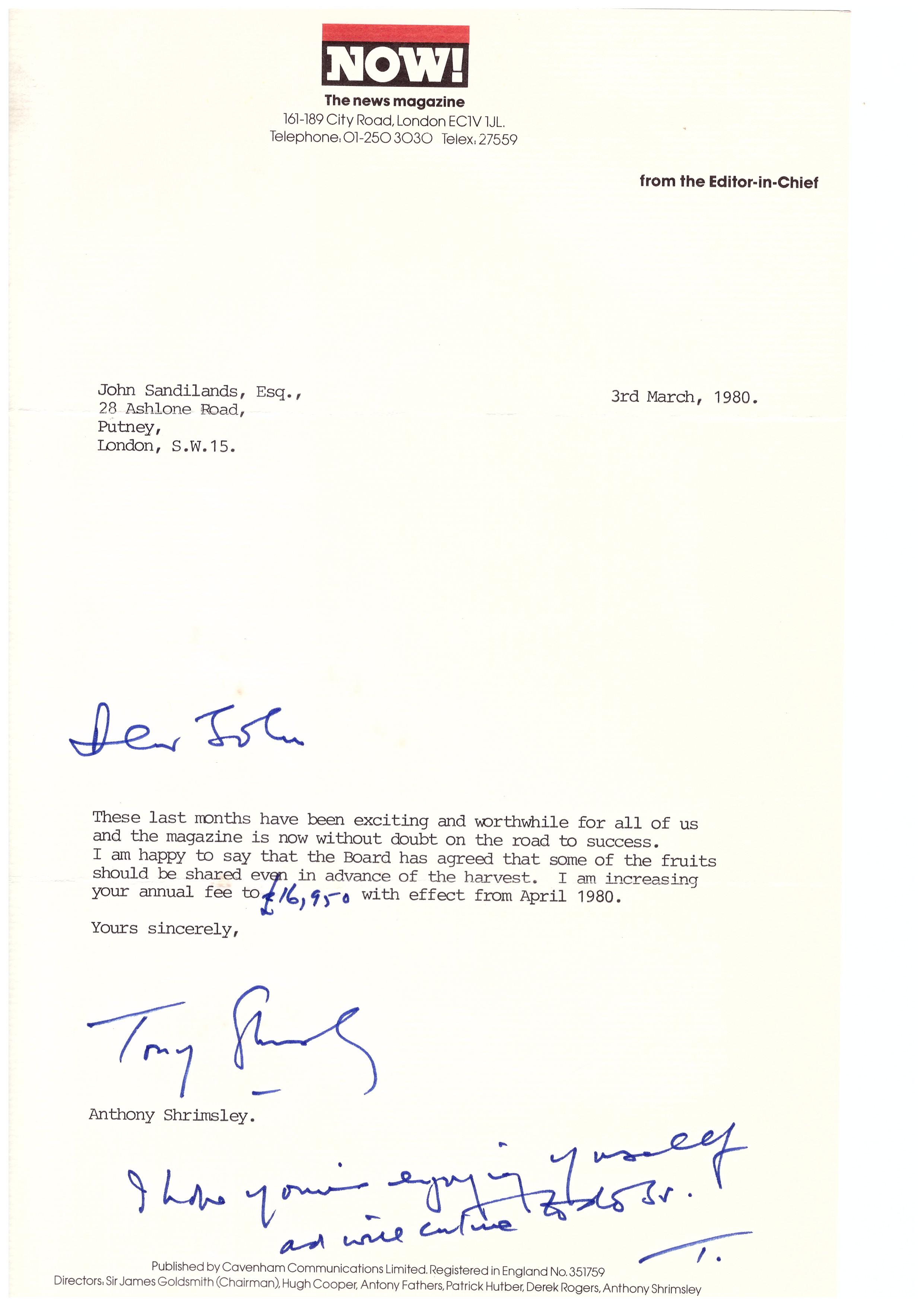 john sandilands letters liz hodgkinson now 2nd shrimsley letter 16 1981